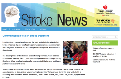 Dinene Jenkins-West AHA ASA Stroke News 2017