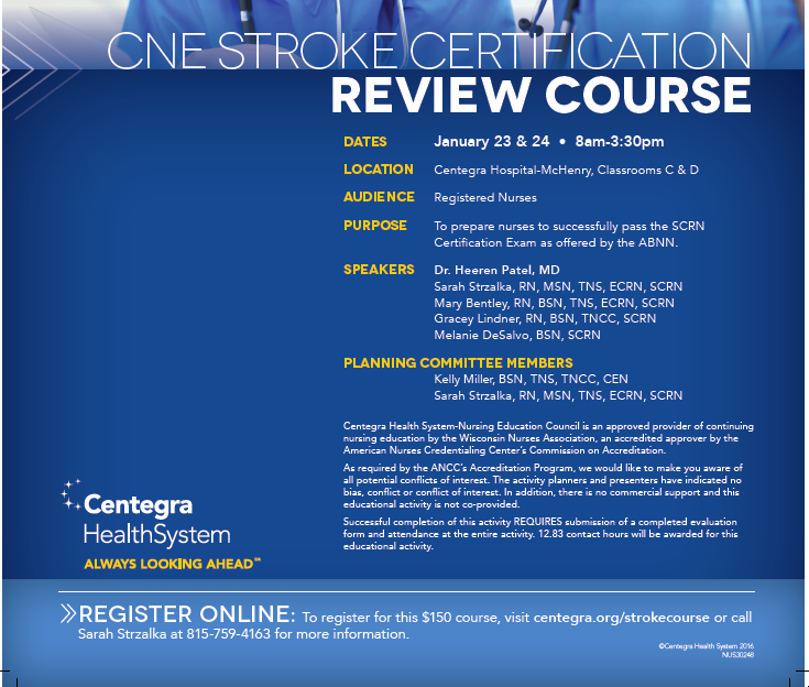 CNE STROKE CERTIFICATION REVIEW COURSE | Midwest Stroke Action Alliance